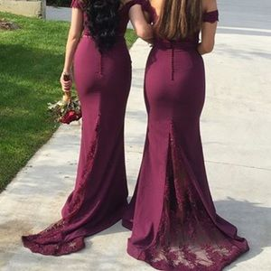 PORTIA AND SCARLET Bridesmaid evening gown plum
